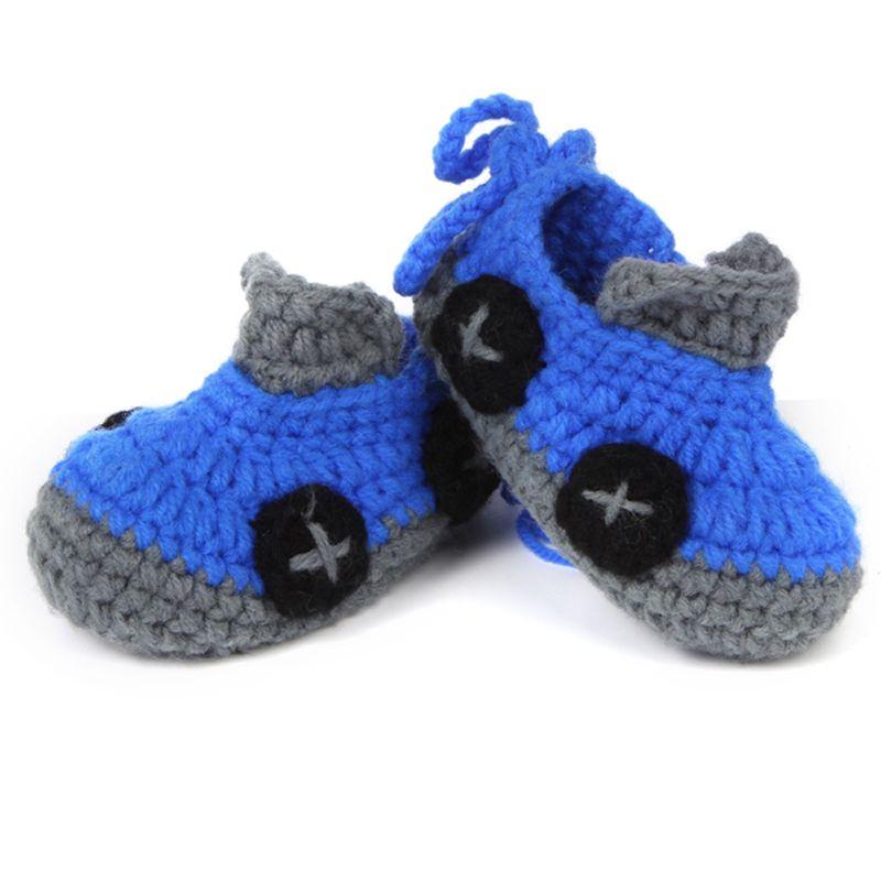 Patrón de ganchillo Zapatos de Bebé Botines Recién Nacido Primera ...