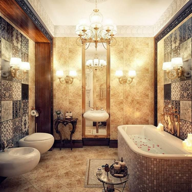 salle de bain romantique 29 belles id es de d co deco pinterest style marocain deco. Black Bedroom Furniture Sets. Home Design Ideas