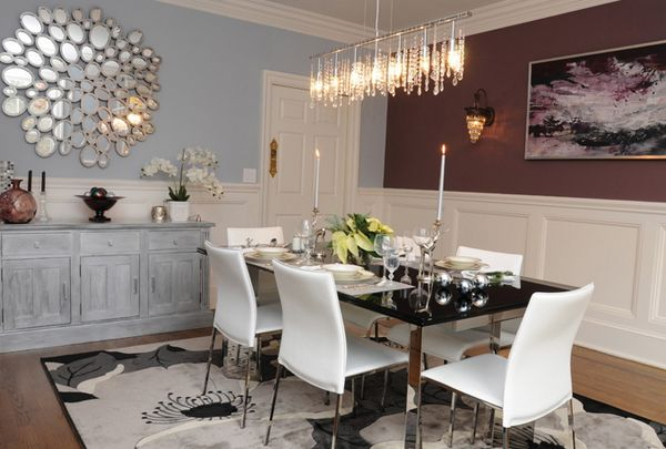 20 Lovely Dining Room With Stunning Mirrors  Dining Area Dining Fascinating Mirror In The Dining Room Decorating Design