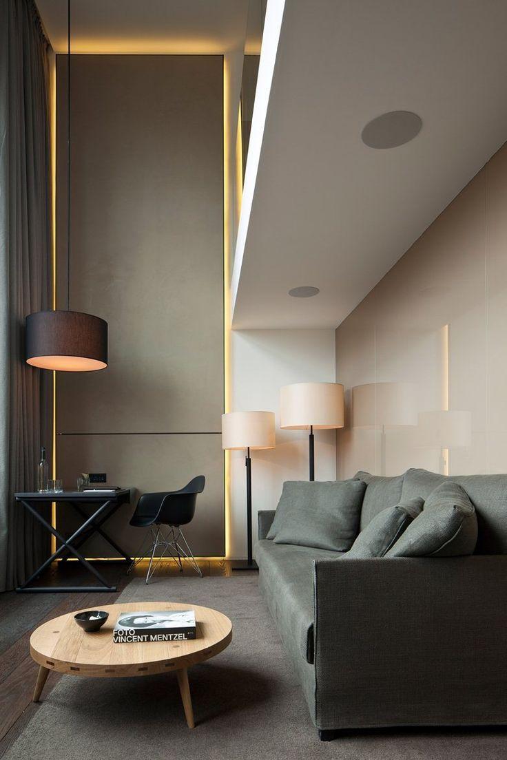 Piero Lissoni - Conservatorium Hotel, Amsterdam ~ designcombo LED Strip  lighting and laquered walls