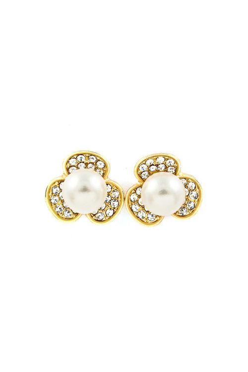 Crystal Daisy Earrings in Gold | things i love | Pinterest ...