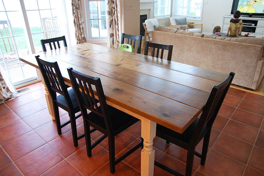 A Diy Farmhouse Table With A Pickled Finish My
