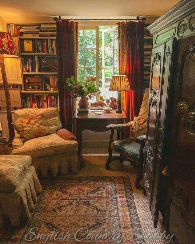 Cottage Home Library: Pin By Diana Phillips On Decorating In 2019