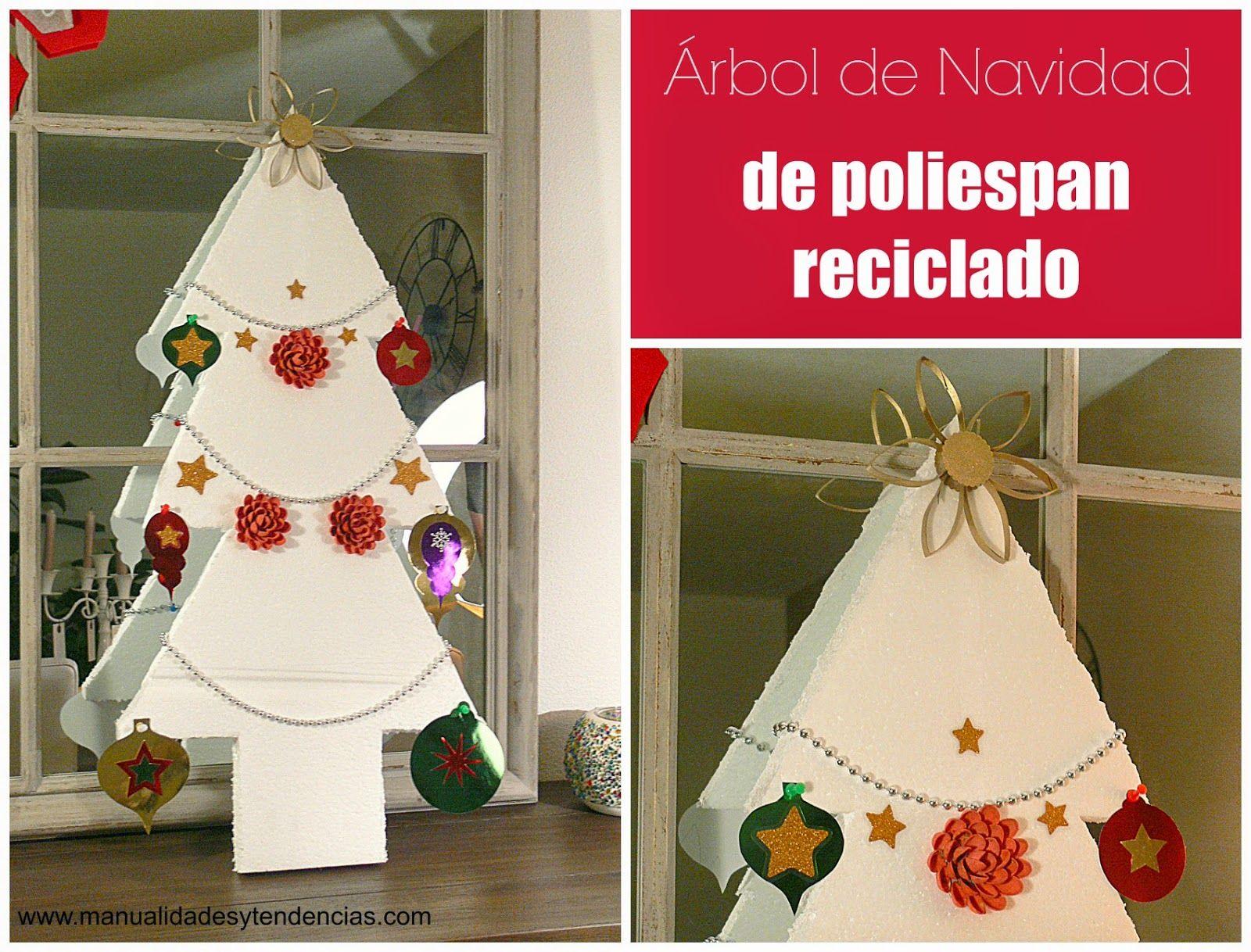 Rbol De #Navidad Reciclado Para Ni Os Wwwmanualidadesytendenciascom # Christmas