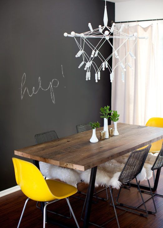 LOVE This Dining Table. Iu0027ve Been Looking For Something Similar With No  Luck. Chalkboard ...