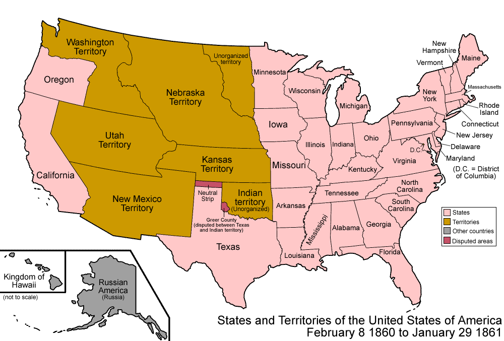 USA 1860 Maps Pinterest