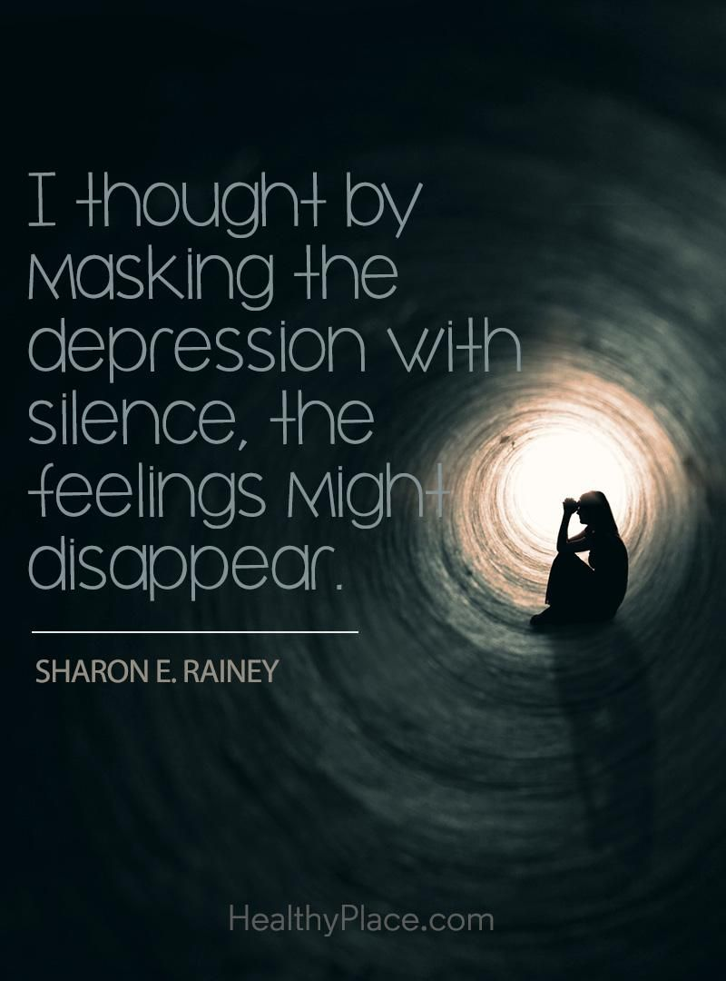Depression Quote Quote On Depression  I Thoughtmasking The Depression With
