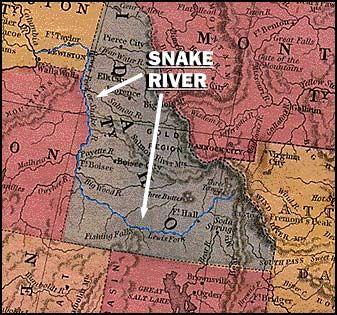 Snake River Idaho Large Map Clearwater River Lapwai Snake River