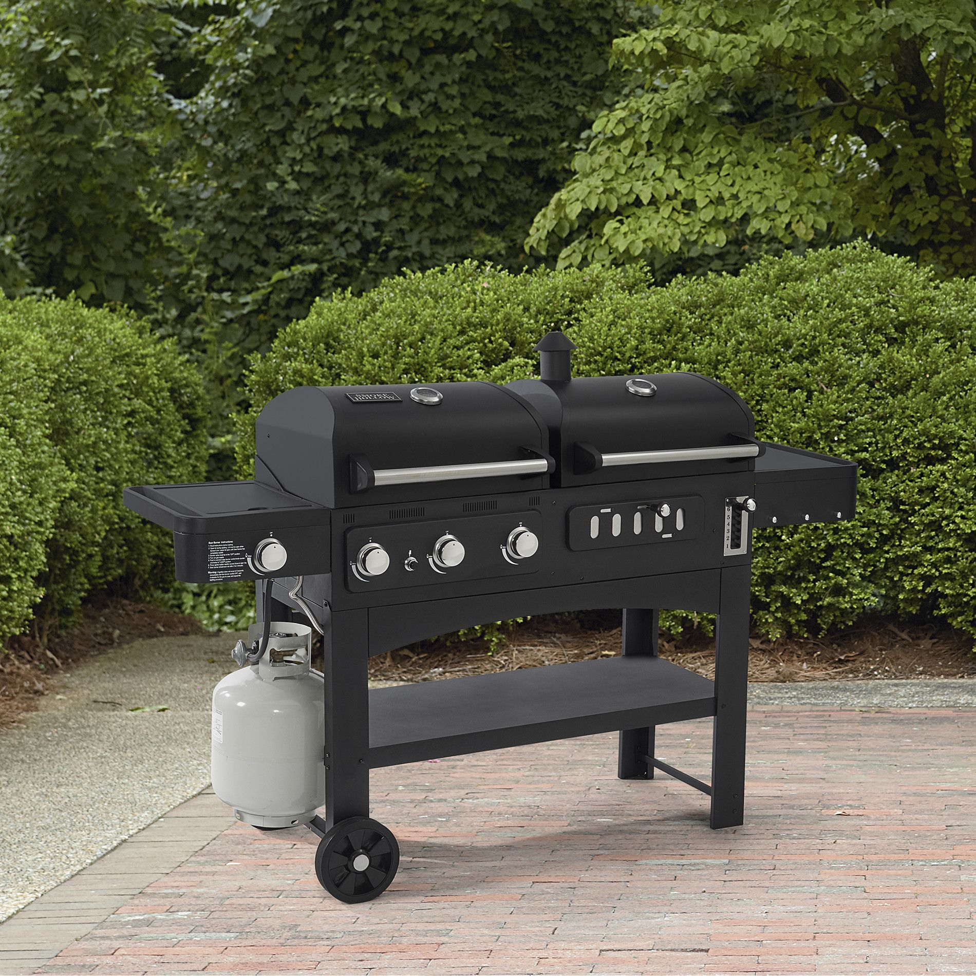 Backyard Patio Bbq Dual Gas And Charcoal Combination Grill