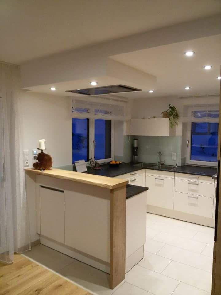 Küche in U-Form mit Bar: schöne Ideen und Bilder für Theken in ...