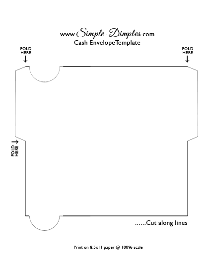 simple dimples cash envelope system printable dave ramsey