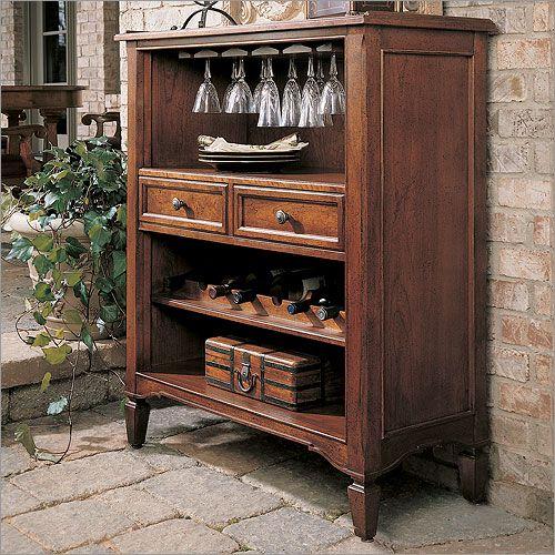 Stanley Furniture Villa Antica Wine Console Wine Racks