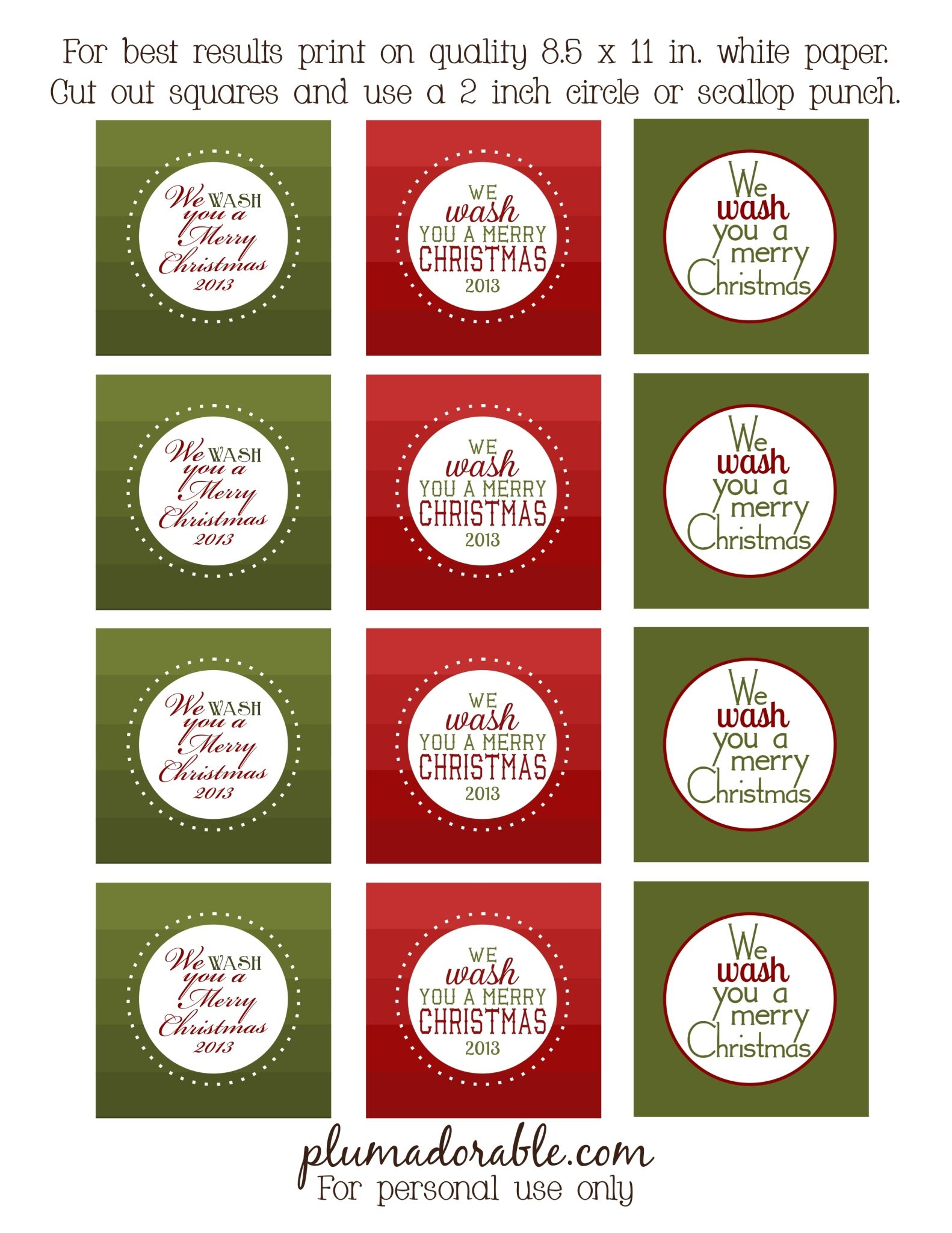 graphic regarding We Whisk You a Merry Kissmas Printable Tag known as We Clean Oneself a Merry Xmas - Totally free Printable Tags
