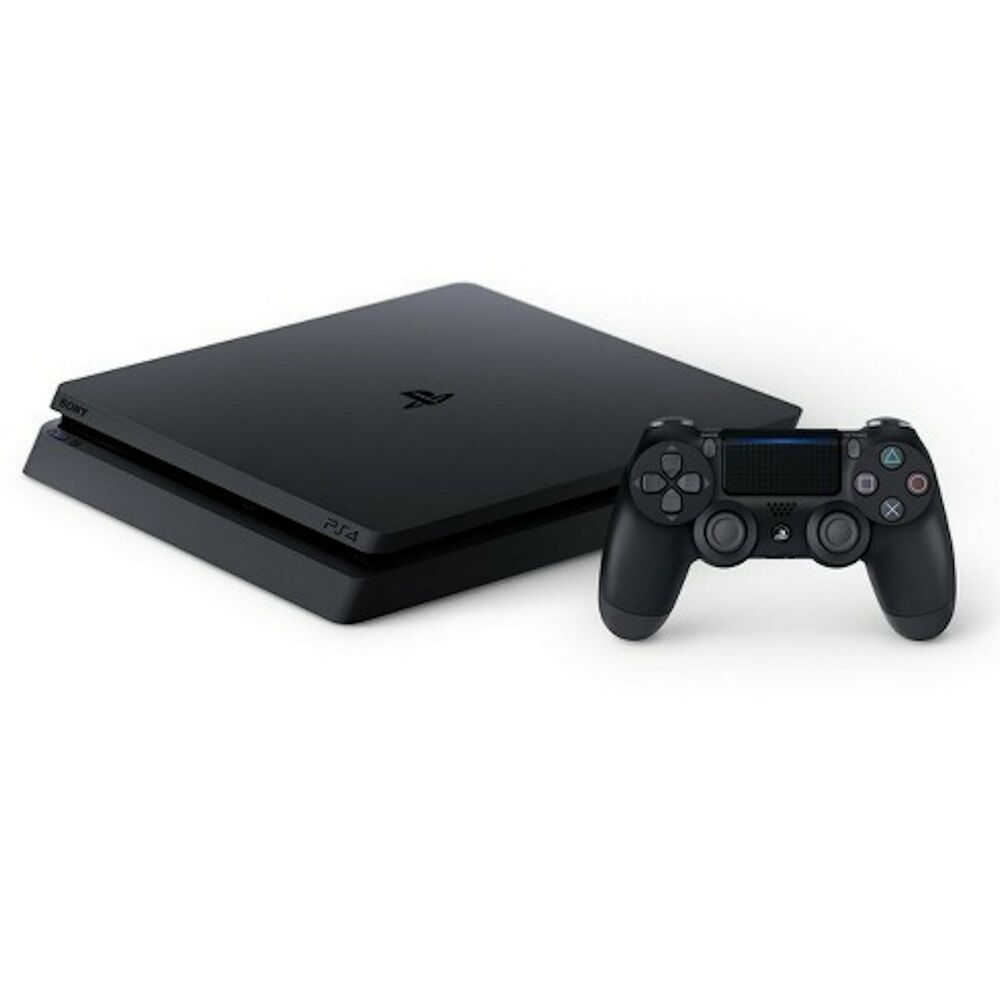New Open PS4 Sony PlayStation 4 Slim 1TB Jet Black Console