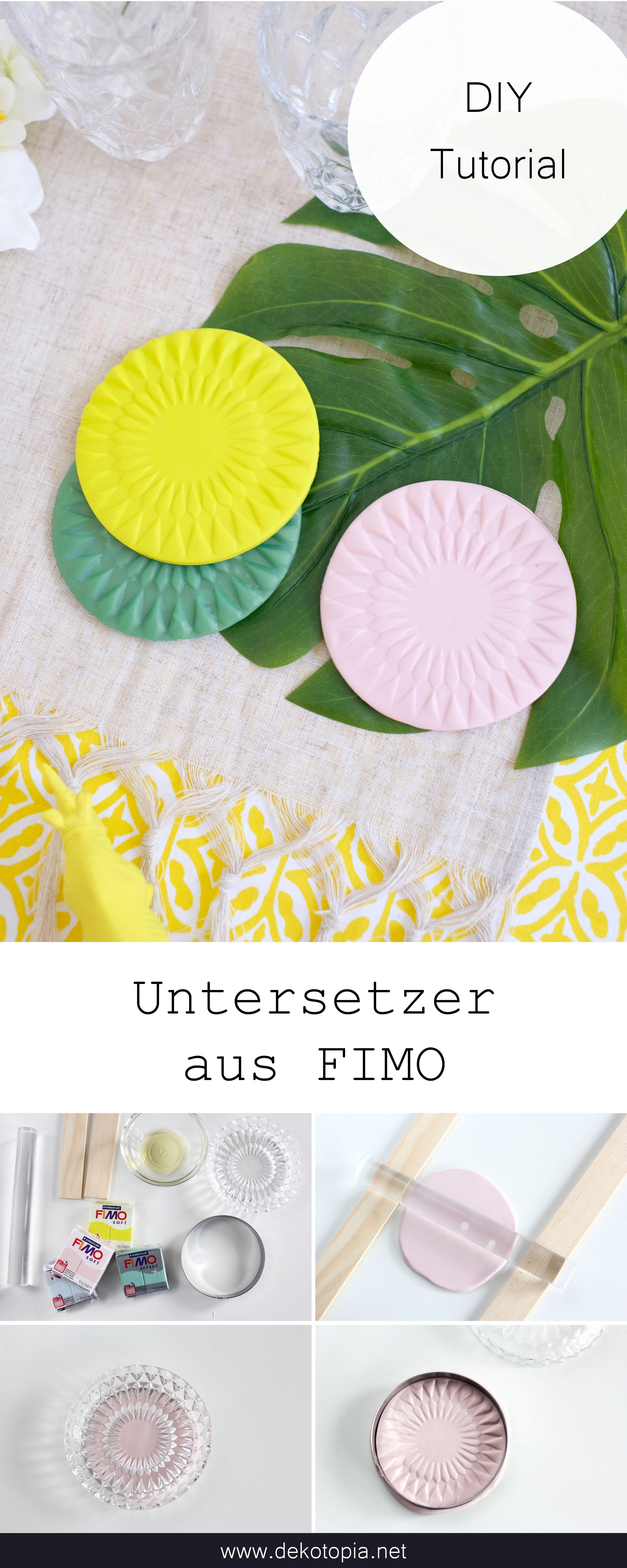 Diy Anleitung Untersetzer Aus Fimo Selber Machen