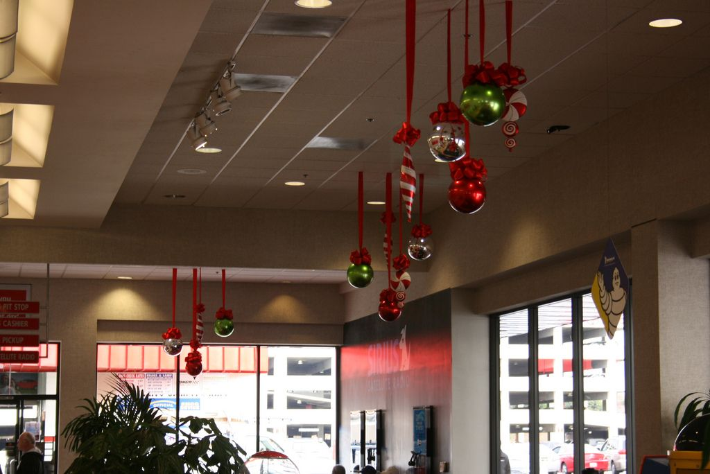 Decorate The Chandelier With Christmas Baubles Christmas Party Decorations Christmas Decorations Diy Christmas Party
