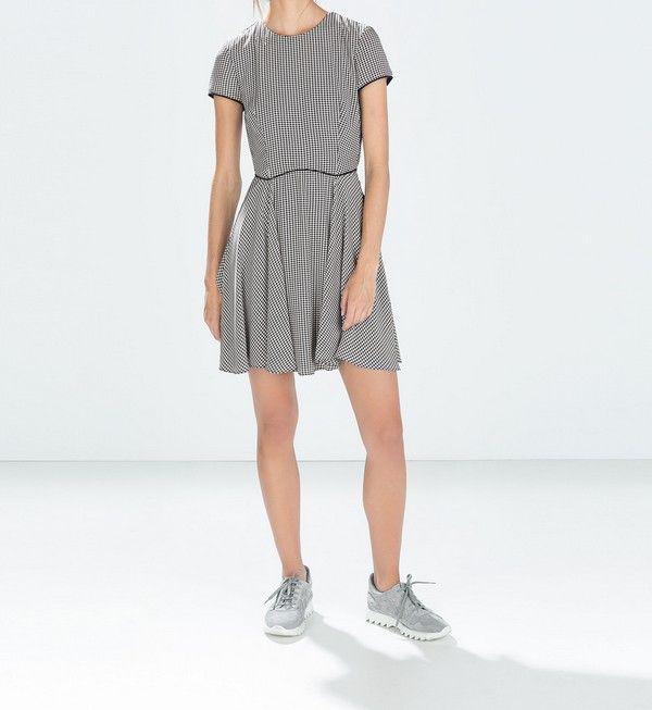 Nowa Sukienka Zara W Pepitke Kratka 34 Xs Czarna 6044910445 Oficjalne Archiwum Allegro Tshirt Dress Dresses With Sleeves Fashion
