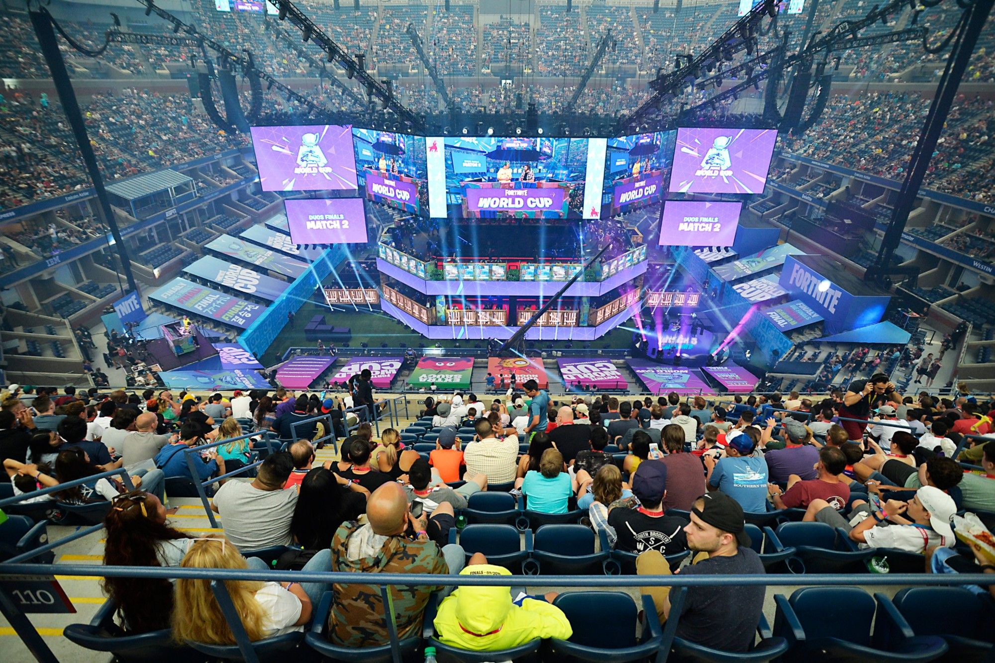 Fortnite Fans Fill Arthur Ashe Stadium For World Cup Competition World Cup World Fortnite
