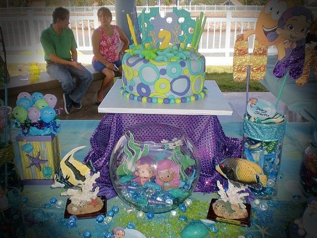 Cake at a Bubble Guppies Party #bubbleguppies #partycake