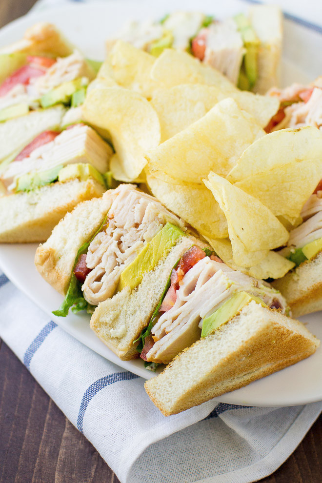 Triple Decker California Club Sandwich