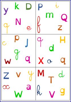 Dobbles Des Lettres En 3 Ecritures Des Lettres Lettre A Lettres Melees