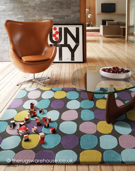 This colourfully playful Sofia Multi #modernrug is handmade from 100