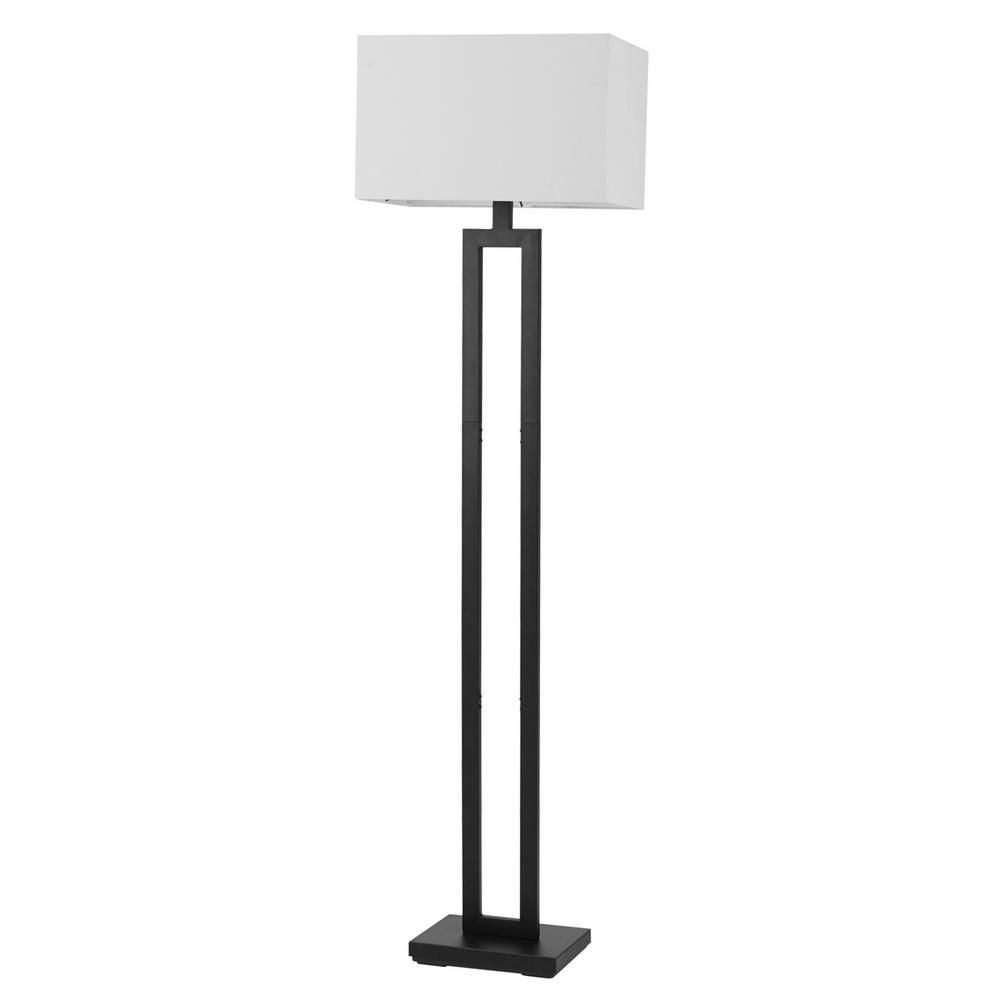 Globe Electric D Alessio 58 In Matte Black Floor Lamp With White