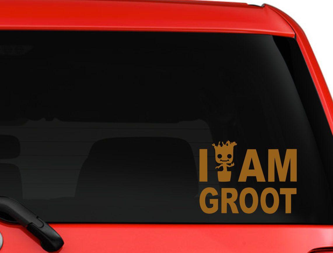 I Am Groot Decal Baby Groot Guardians Of The Galaxy Vinyl Sticker Marvel Comic Superhero Decal Car Truck Laptop De Nature Decal Marvel Decor Superhero Comic [ jpg ]