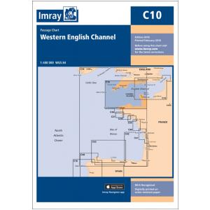 C10 Western English Channel Passage Chart Imray Chart English Channel Chart Navigation Chart