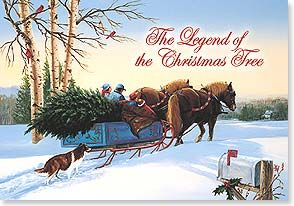 Leanin Tree Christmas Cards.Christmas Card The Legend Of The Christmas Tree Linda