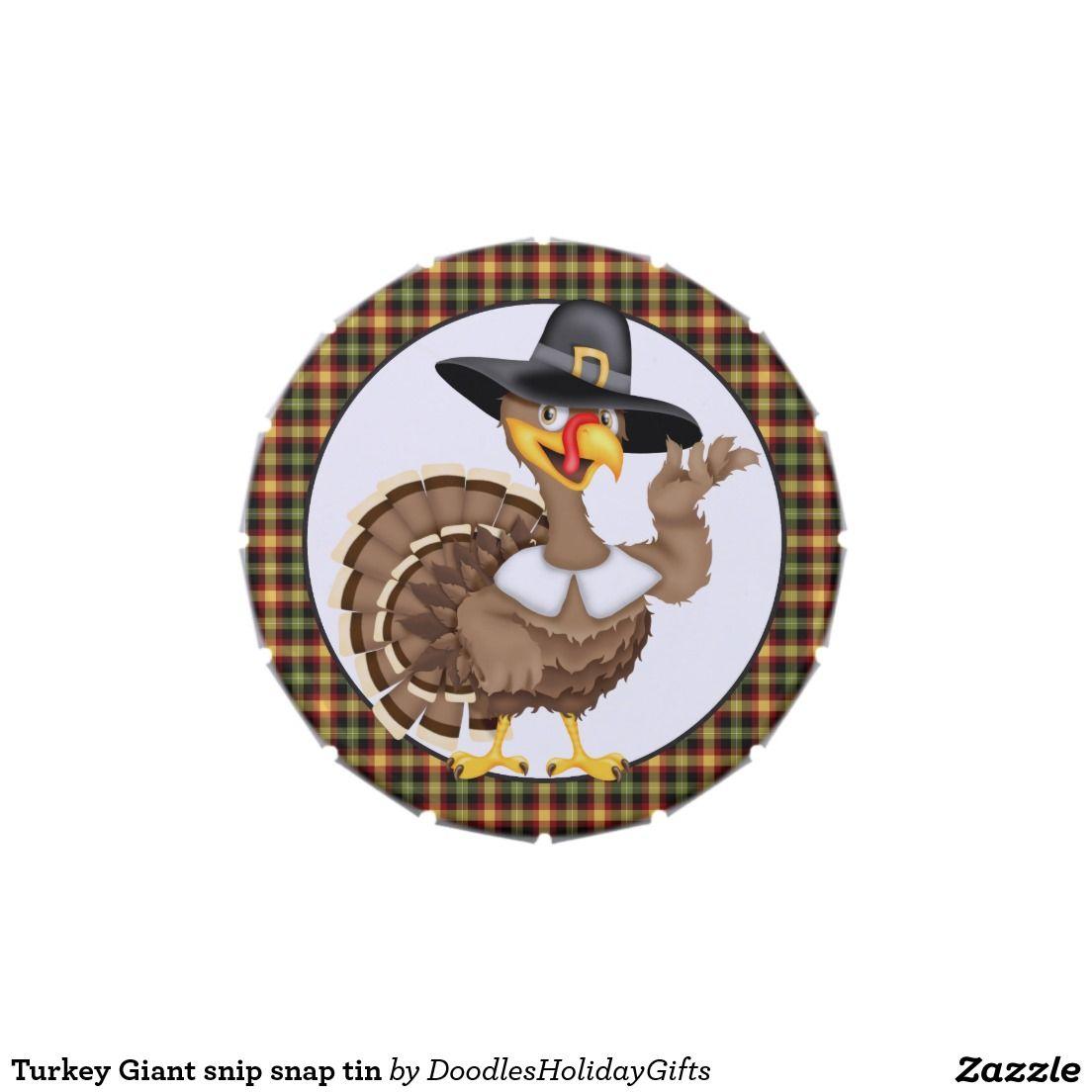 Turkey Giant snip snap tin Candy Tin