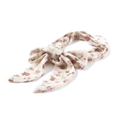 Crepe Floral Print and Polka Dot Self Tie Headwrap