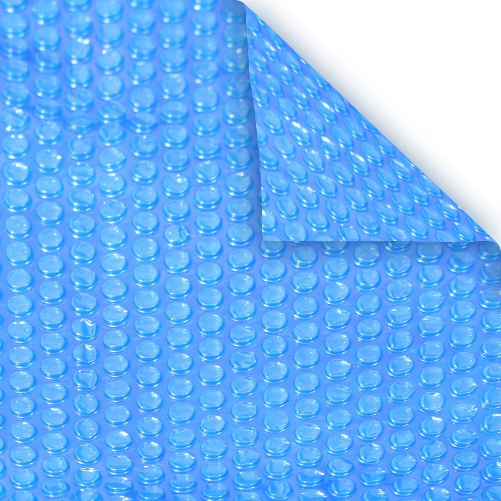 Robelle Heavy Duty 16 Ft X 32 Ft Rectangular Blue Solar Pool Cover 1632rs 8 Box The Home Depot Solar Cover Solar Blanket For Pool Solar Pool