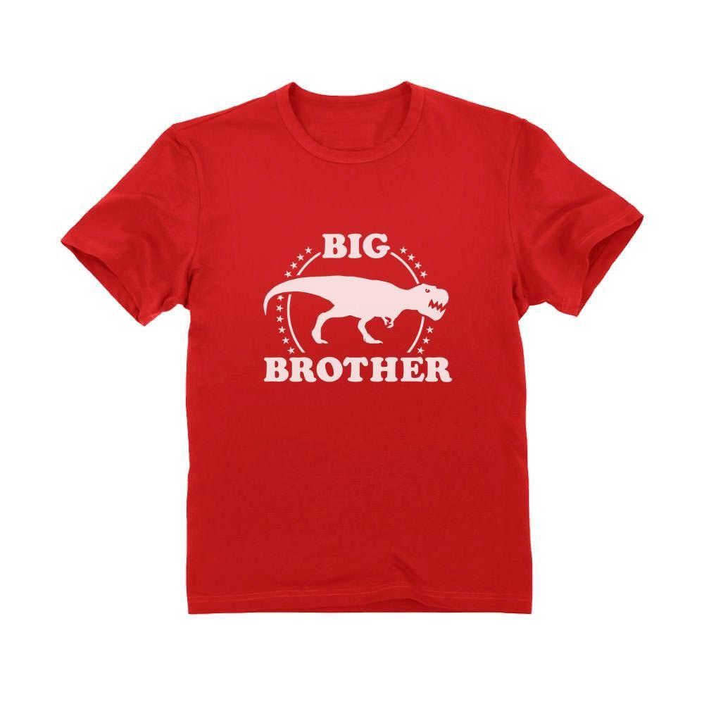 Soon To Be A Big Brother Gift Idea Raptor Dinosaur Kids T-Shirt Elder Sibling