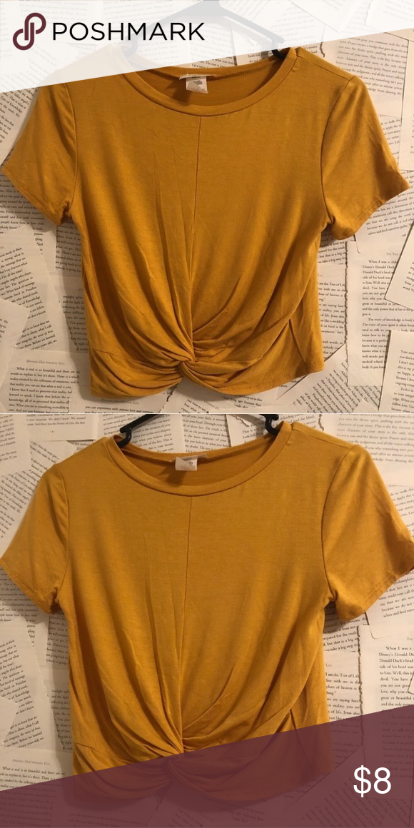 e2e693539e8 NEW Mustard Yellow Crop Top | Gaze Silky to the touch mustard yellow crop  top. 96% Rayon, 4% Spandex Brand: Gaze Size: Small Condition: New without  Tags ...