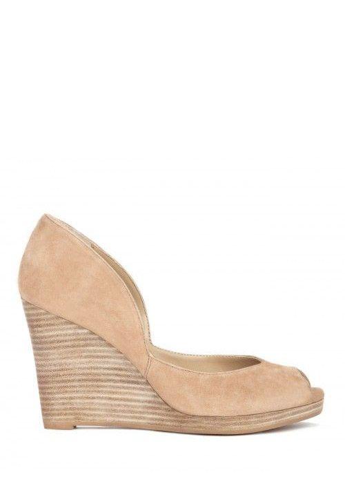 c3374ce60f00 Kalani peep toe wedge - Beach Tan