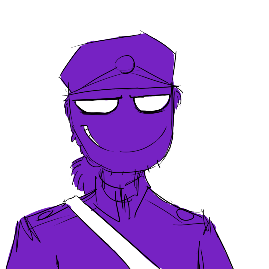 Purple Guy Stares At Me. Me: What The Heck Are You