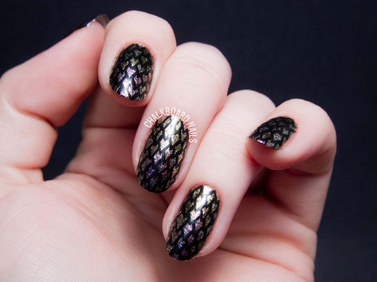 Dragon Scale Nail Art with Chloe & Bella | Chalkboard Nails | Nail . - Dragon Scale Nail Art With Chloe & Bella Dragon Scale
