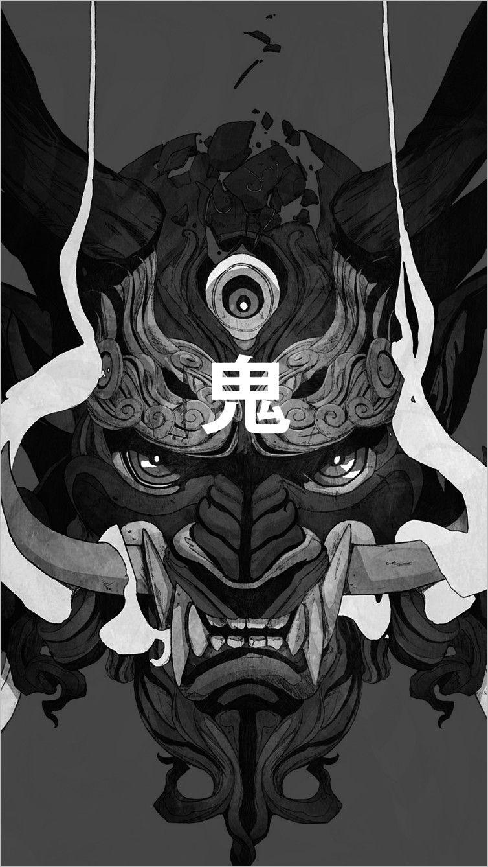 Demon Oni Mask Art Wallpaper 4k In 2020 Oni Mask Masks Art Japanese Tattoo Art