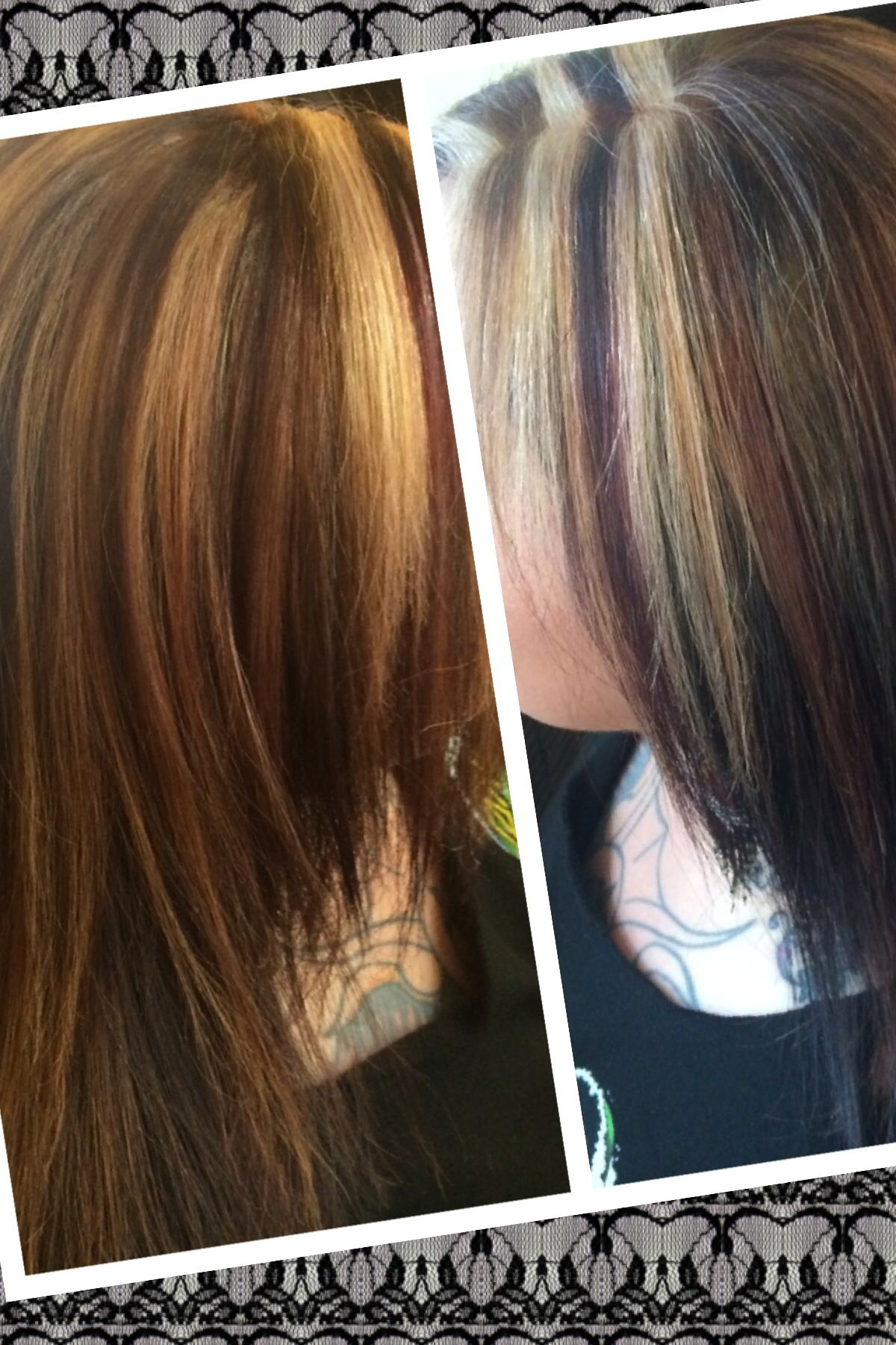 color blend highlights low lights hair pinterest low lights