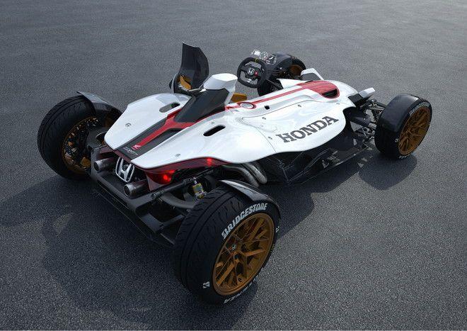 ホンダ、2輪の特徴を備えた4輪車「Honda Project 2&4 powered by RC213V」 - えん乗り