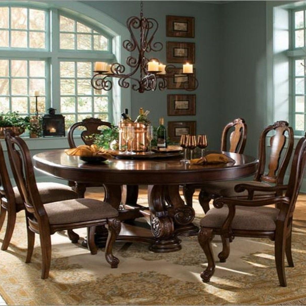 Depiction Of Perfect 8 Person Round Dining Table Round Dining