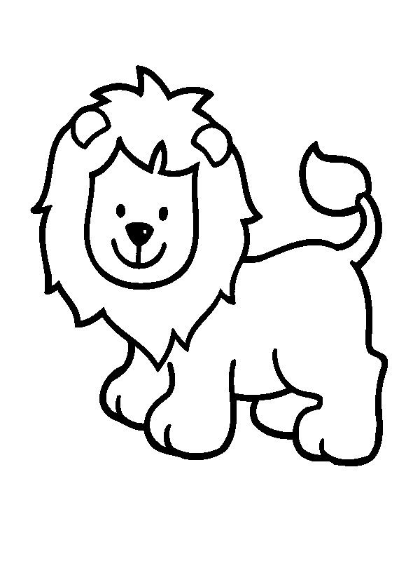 simple lion color page animal coloring pages coloring pages for kids thousands of free printable coloring pages for kids - Lion Pictures To Color