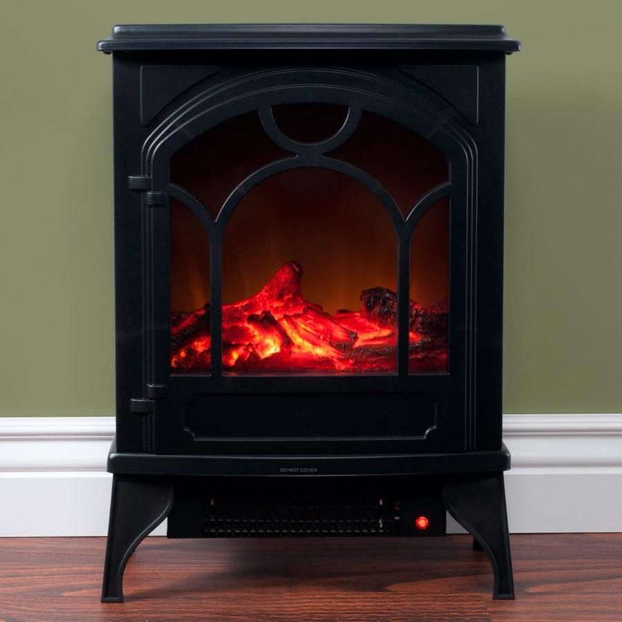 Hastings Home 16 5 In W Black Led Electric Fireplace Lowes Com Electric Fireplace Free Standing Electric Fireplace Freestanding Fireplace