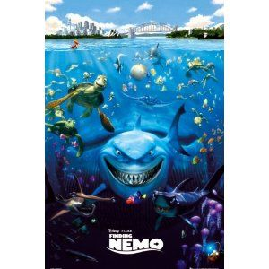"Finding Nemo - Pixar Movie Poster (Regular Style) (Size: 27"" x 39"")"