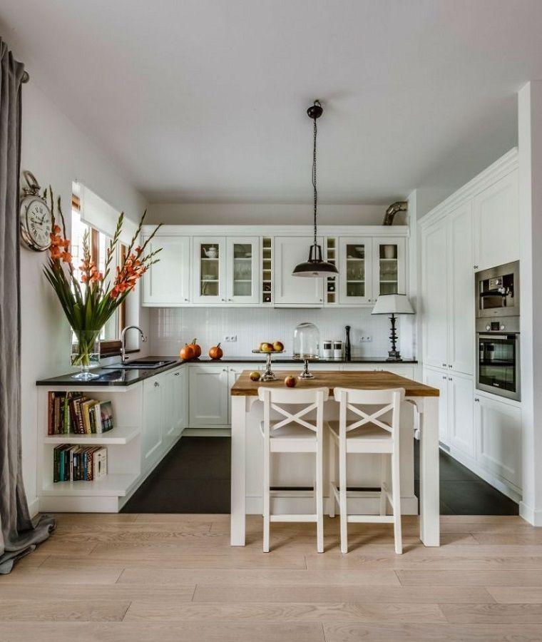 Cocinas pequeñas con isla – 20+ ideas en fotos y consejos sobre la elección –