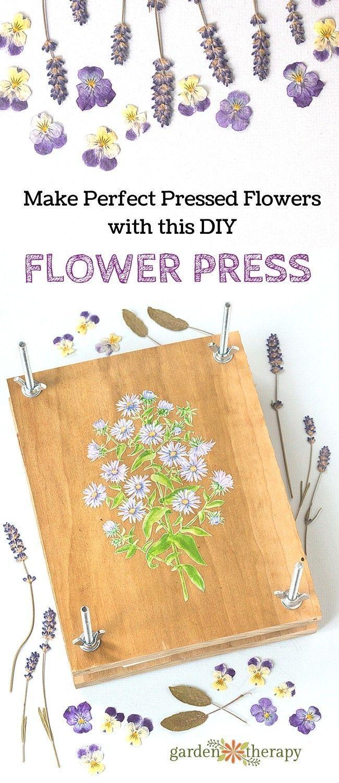 Woodworking For Gardeners Make A Handmade Flower Press Garden
