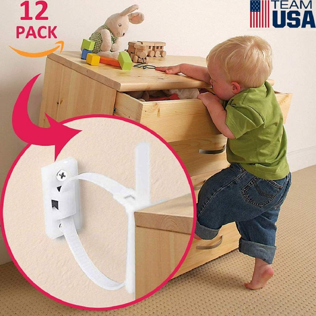 Careshopba Furniture Straps Anti Tip Safety Wall Strap For Baby Proofing Childproof Adjustable Child Safety St Furniture Anchors Furniture Straps Baby Proofing