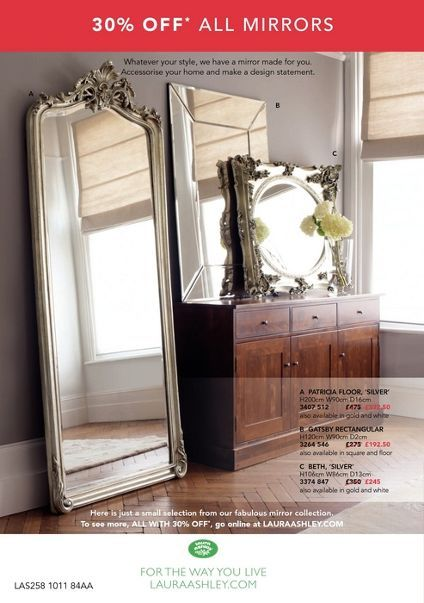 That Big Standing Mirror By Laura Ashley Amazing Silver Floor Mirror Mirrors And Chandeliers Laura Ashley Mirror