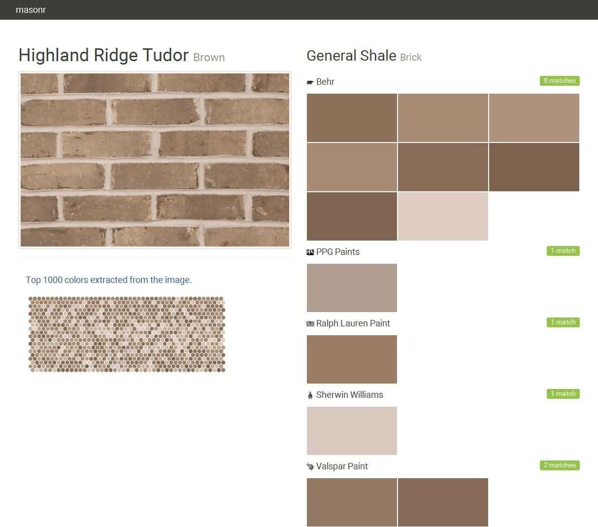 Highland Ridge Tudor Brown Brick General Shale Behr Ppg Paints Ralph Lauren Paint Sherwin Williams Valspar Click The Gray Visit On To See